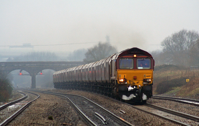 66017, 09.12 Aberthaw power Station-Portbury, Pilning, 8-02-07.
