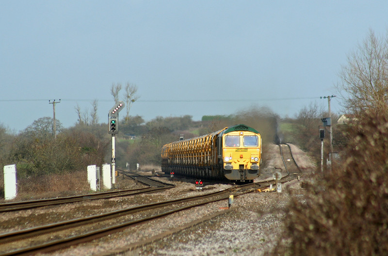 66610, 13.00 Westbury Virtual Quarry-Taunton Fairwater Yard, Cogload, 22-2-07.