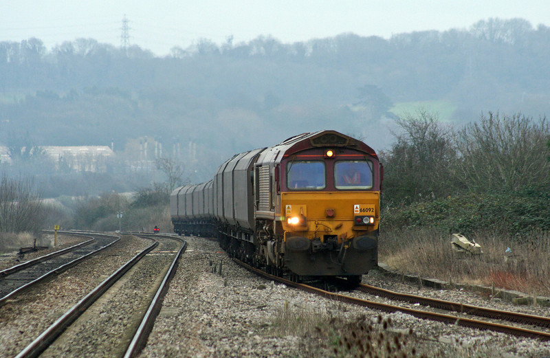 66092, 12.48 Portbury-Aberthaw Power Station, Pilning, 1-2-07.