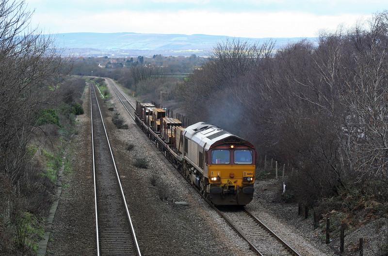 66154, 09.41 Newport Alexandra Dock Junction Yard-Bristol East Depot, Cattybrook, Bristol, 12-02-07.