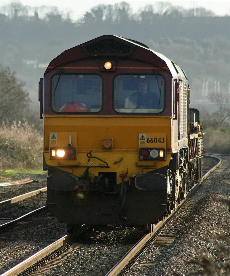 66043, 09.15 Westbury Yard-Newport Alexandra Dock Junction Yard, Pilning, 10-1-07.