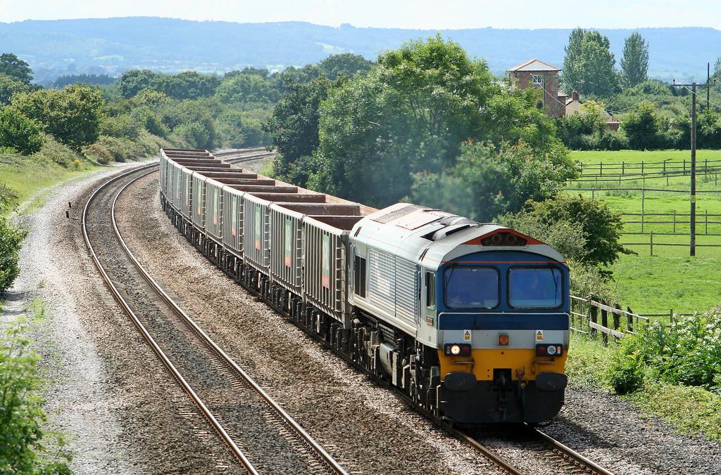 59101, 12.26 Exeter Riverside Yard-Westbury Yard, Cogload Junction, 19-7-07.