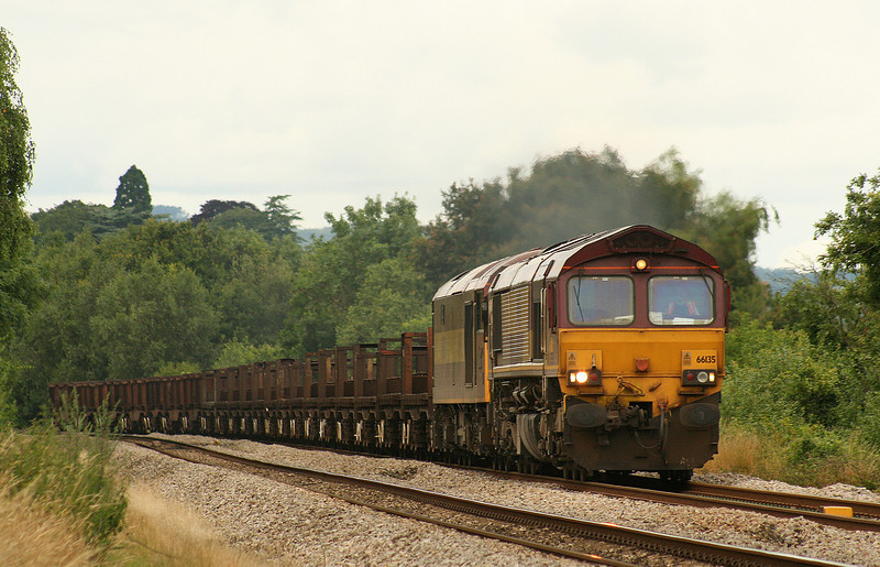 66135/60500, 10.10 Corby-Margam, late, Bullo Pill, near Newnham, Gloucestershire, 10-7-07.