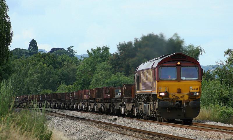 66167, 08.17 Lackenby-Llanwern, Bullo Pill, near Newnham, Gloucestershire, 10-7-07.