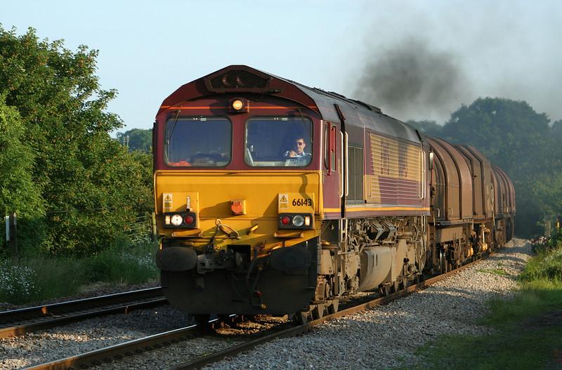 66143, 18.43 Llanwern-Round Oak, Bullo Pill, near Newnham, Gloucestershire, 5-6-07.