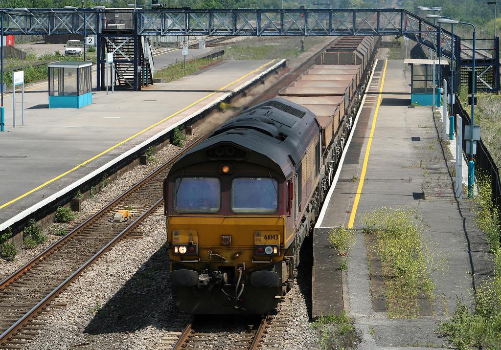 66143, 10.15 Hayes-Newport East Usk Yard, Severn Tunnel Junction, 5-6-07.