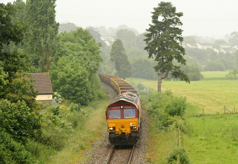 66079, 12.35 Westbury Yard-Meldon Quarry, Cowley, near Exeter, 19-6-07, in torrential rain.