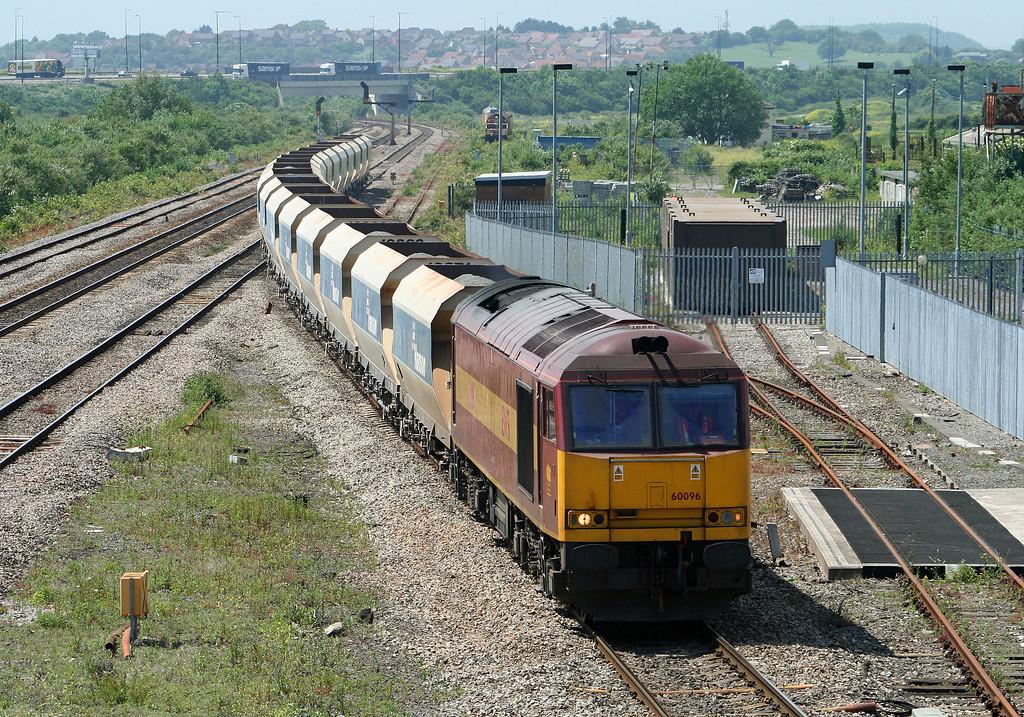 60096, 12.20 Machen-Westbury Yard, Severn Tunnel Junction, 5-6-07.