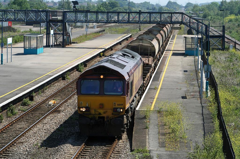 66149, 09.15 Westbury Yard-Newport Alexandra Dock Junction, Severn Tunnel Junction, 5-6-07.