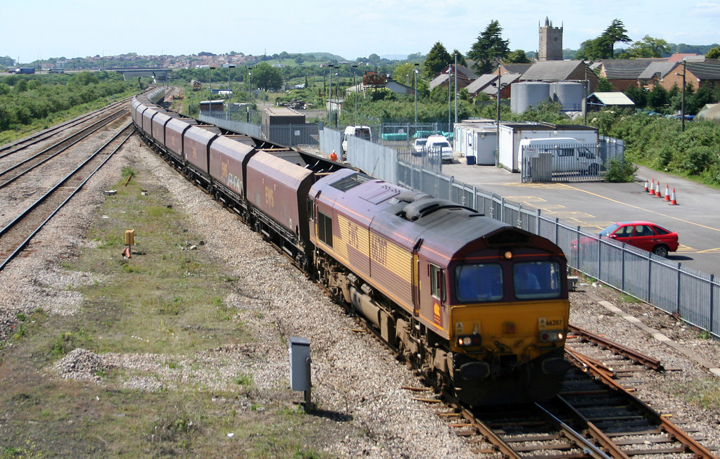66207, 10.50 Aberthaw Power Station-Avonmouth Bulk Handling Terminal, Severn Tunnel Junction, 22-5-07.