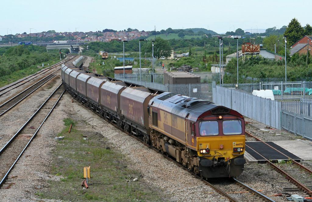 66078, 10.41 Newport East Usk Yard-Avonmouth Bulk Handling Terminal, Severn Tunnel Junction, 22-5-07.