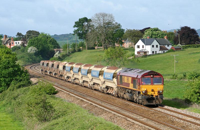 66183, 04.50 Penzance Long Rock-Westbury Yard, Rewe, near Exeter, 8-5-07.