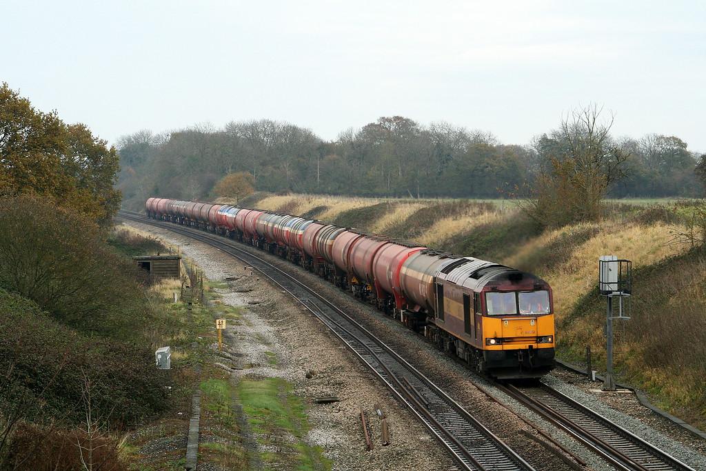60051, 12.12 Theale-Margam, Compton Beauchamp, near Shrivenham, 17-11-07.