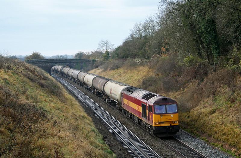 60062, 10.15 Westerleigh-Lindsey, approaching Wickwar Tunnel, Gloucestershire, 17-11-07.