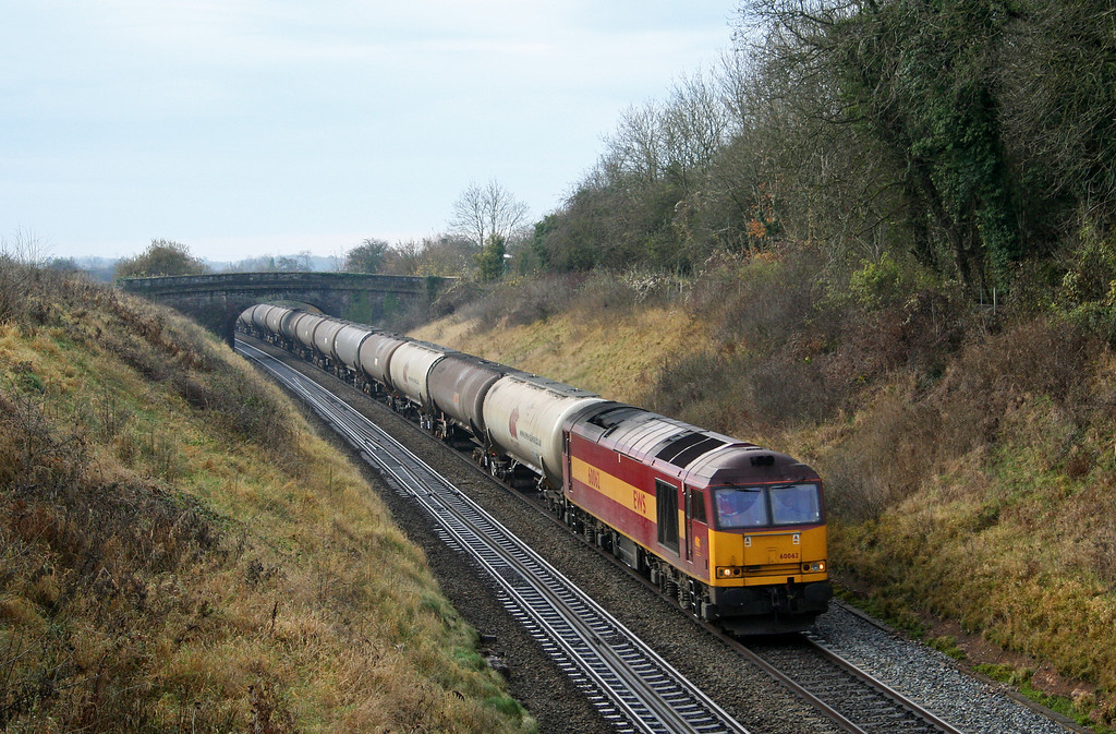 60062, 10.15 Westerleigh-Lindsey, approaching Wickwar Tunnel, Gloucestershire, 17-11-07.