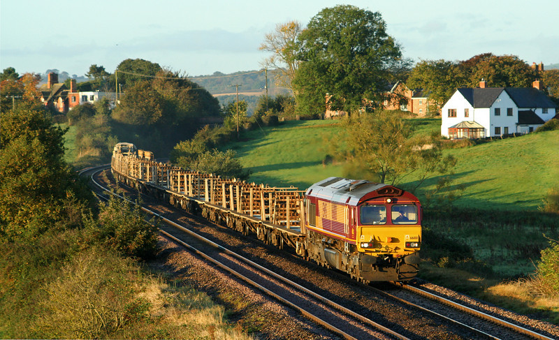 66188, 05.30 Truro Penwithers Junction-Westbury Yard, Rewe, near Exeter, 17-10-07.