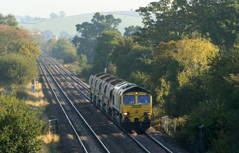 66506, 08.50 Taunton Fairwater Yard-Meldon Quarry, Rewe, near Exeter, 18-10-07.