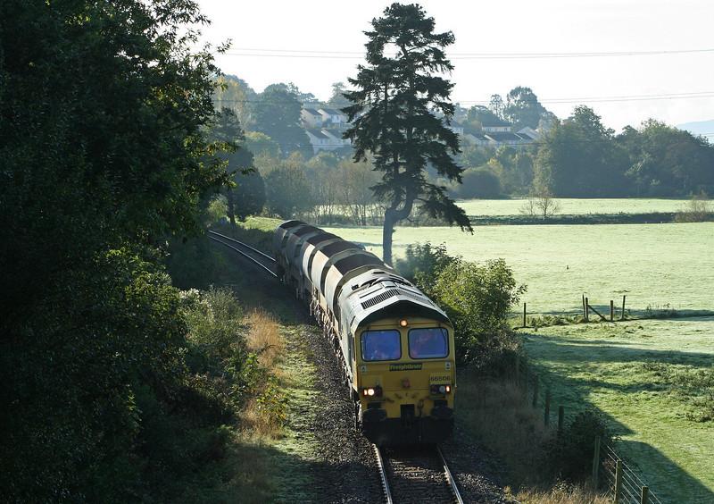 66506, 08.50 Taunton Fairwater Yard-Meldon Quarry, Cowley, near Exeter, 18-10-07.