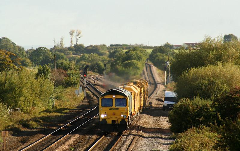 66561, Westbury Virtual Quarry-Taunton Fairwater Yard, Cogload Junction, 24-9-07.