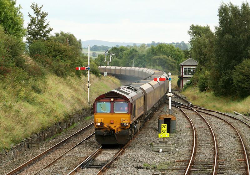 66237, 12.52 Milford Sidings-Ayr, Settle Junction, 18-9-07.