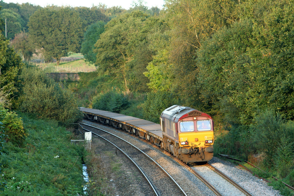 66050, 17.00 or 17.30 Westbury Yard-Exeter Central,  Whiteball, 15-9-07.