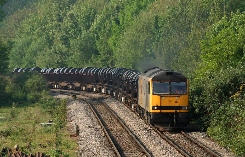 60055, 05.48 Margam-Corby, Chepstow, 8-5-08.
