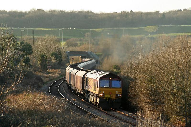 66164, 15.24 Avonmouth Bulk Handling Terminal-Didcot Power Station, Brentry, Bristol, 6-2-08.