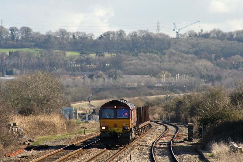 66133, 12.56 Bristol East Depot-Newport Alexandra Dock Junction, Pilning, 27-02-08.