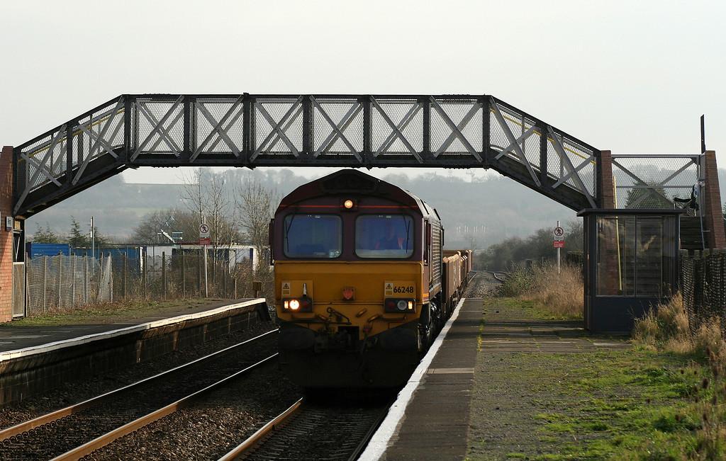 66248, 10.15 Westbury Yard-Newport Alexandra Dock Junction, Pilning, 29-1-08.