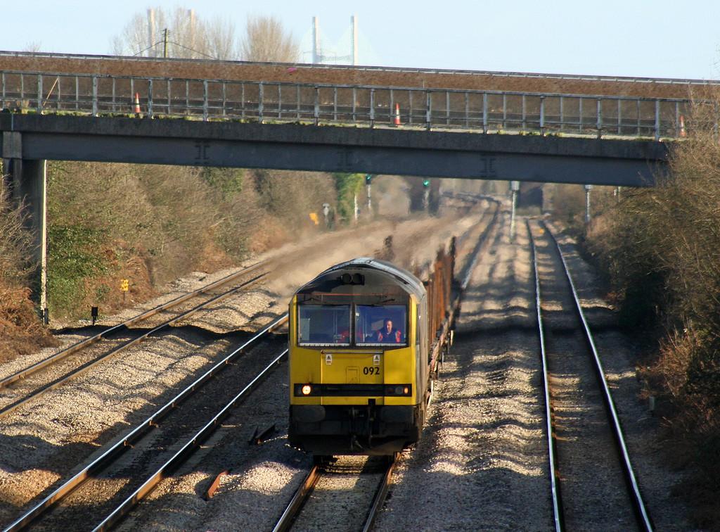 60092, 12.56 Bristol East Depot-Newport Alexandra Dock Junction, Llandevenny, near Llanwern, 24.1-08.