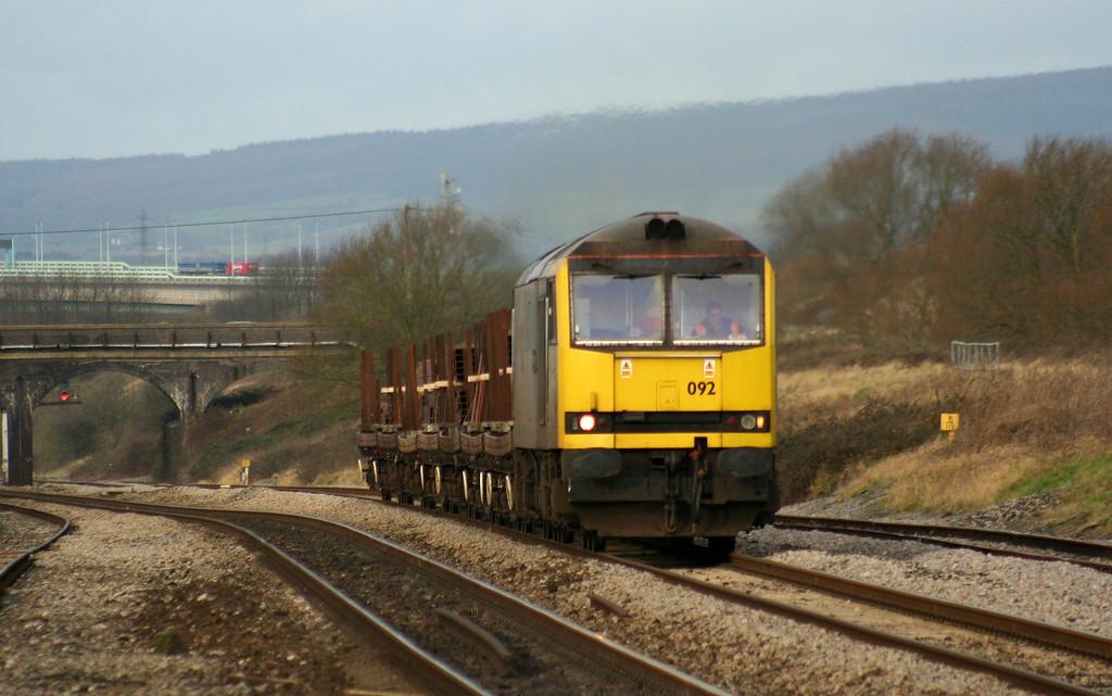 60092, 09.41 Newport Alexandra Dock Junction-Bristol East Depot, Pilning, 24-1-08.