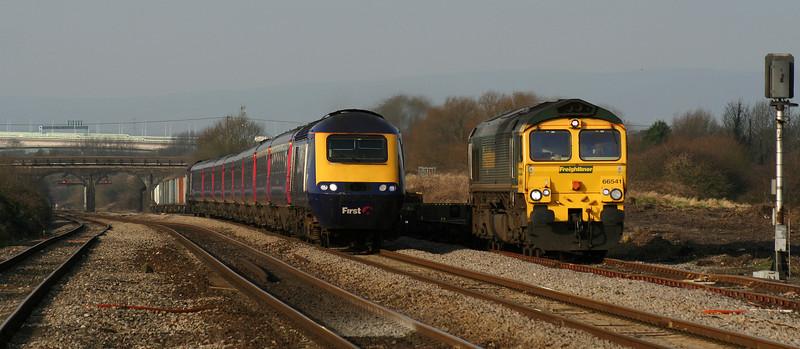 66541, 10.02 Cardiff Wentloog-Southampton Millbrook, Pilning loop, 29-1-08.