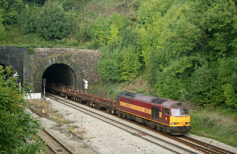 60042, 10.10 Corby-Margam, Highfield Tunnel, Newport, 18-9-08.