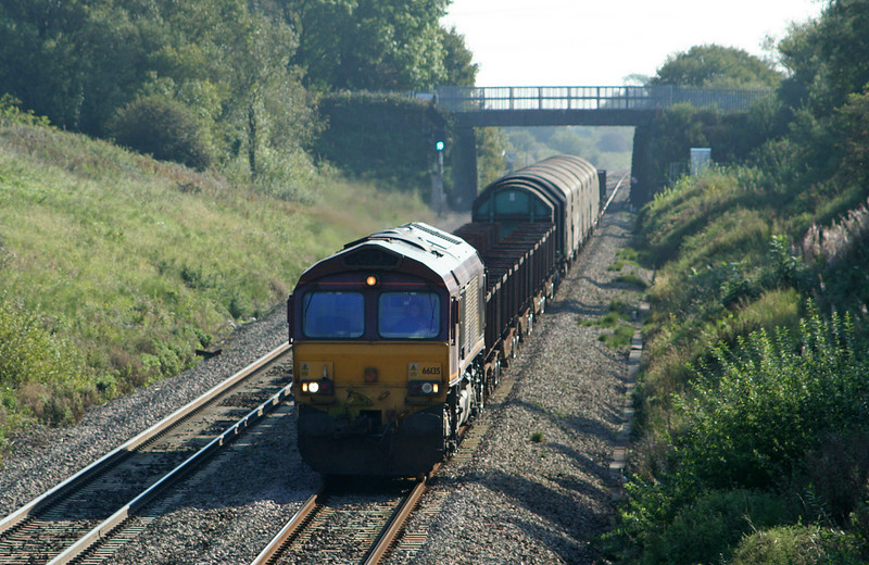 66135, Llanwern-Margam, Stormy Down, near Bridgend, 18-9-08.