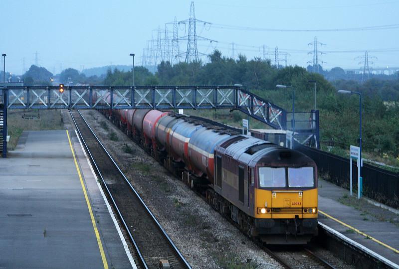 60093, 17.10 Westerleigh-Robeston, Severn Tunnel Junction, 18-9-08.