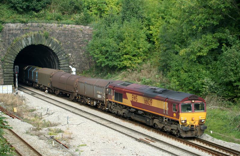 66039, 09.30 Dee Marsh-Margam, Highfield Tunnel, Newport, 18-9-08.
