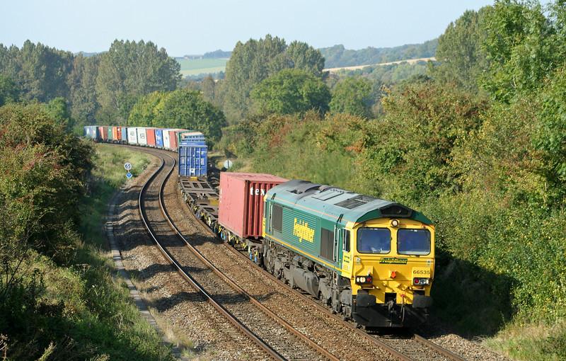 66535, diverted 10.06 Lawley Street-Southampton, Sherrington, near Warminster, 27-9-08.