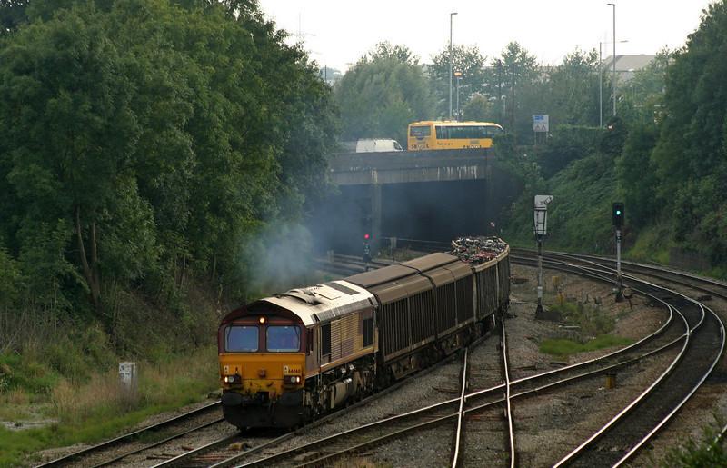 66060, 16.22 Newport Alexandra Dock Junction-Warrington, Gaer Junction, Newport, 18-9-08.