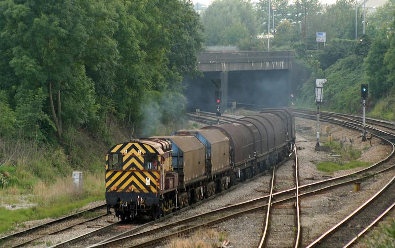 09017, 15.28 Newport Docks-Llanwern, Gaer Junction, Newport, 18-9-08.