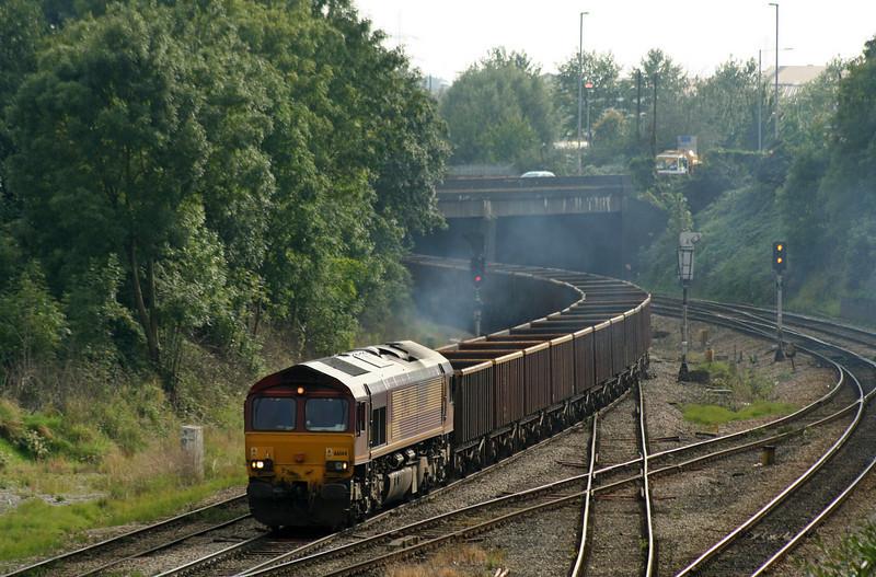 66144, 15.00 Newport Docks-Ayr, Gaer Junction, Newport, 18-9-08.