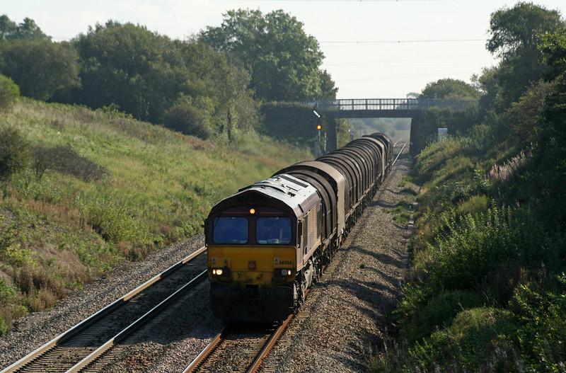 66066, 17.22 Immingham-Margam, Stormy Down, near Bridgend, 18-9-08.