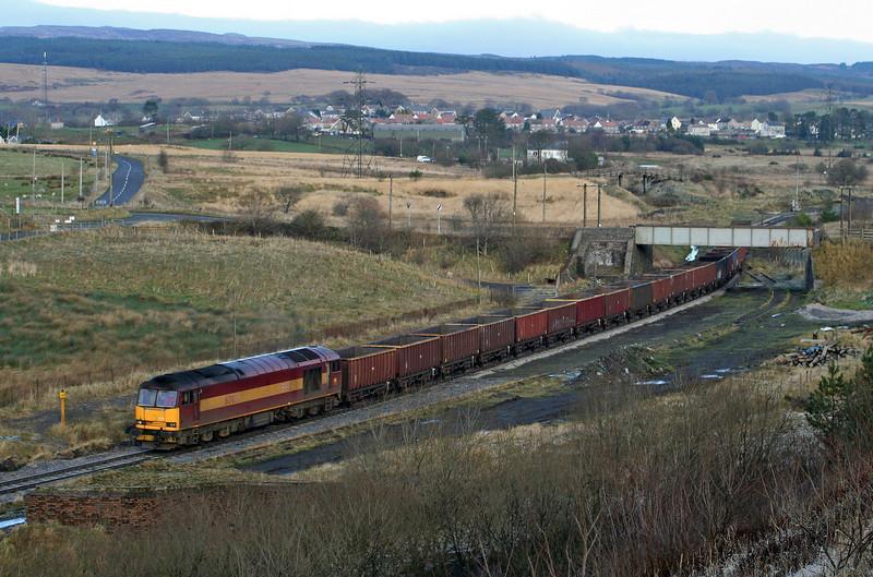 60039, 15.20 Onllwyn-Margam,<br /> departs Onllwyn, 29-11.08.