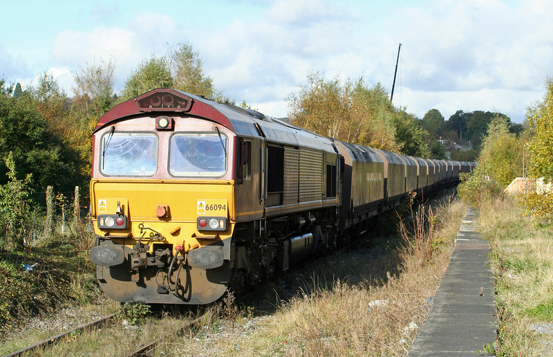 66094, 10.54 Tower Colliery-Aberthaw Power Station, Aberdare, 17-10-08.