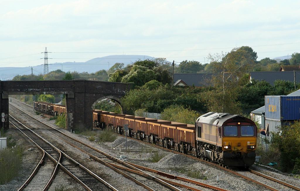 66037, 15.14 Newport Alexandra Dock Junction-Westbury Yard, Magor, 17-10-08.