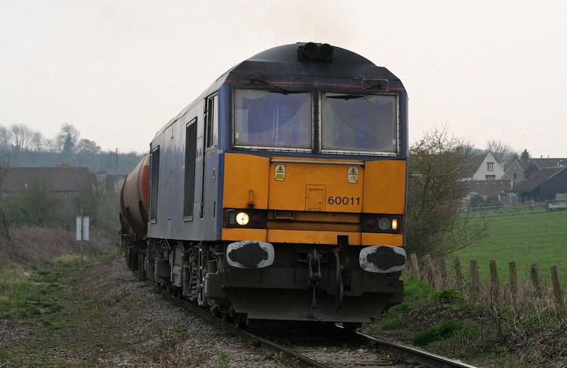 60011, 17.42 Westerleigh-Robeston, Westerleigh, near Bristol, 3-4-09.