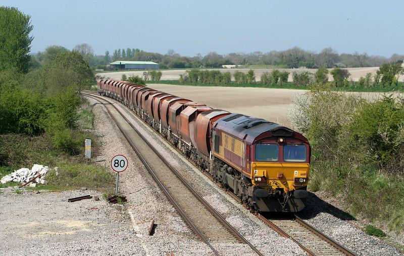 66111, 10.37 Whatley Quarry-London St Pancras, Crofton, 21-4-09.