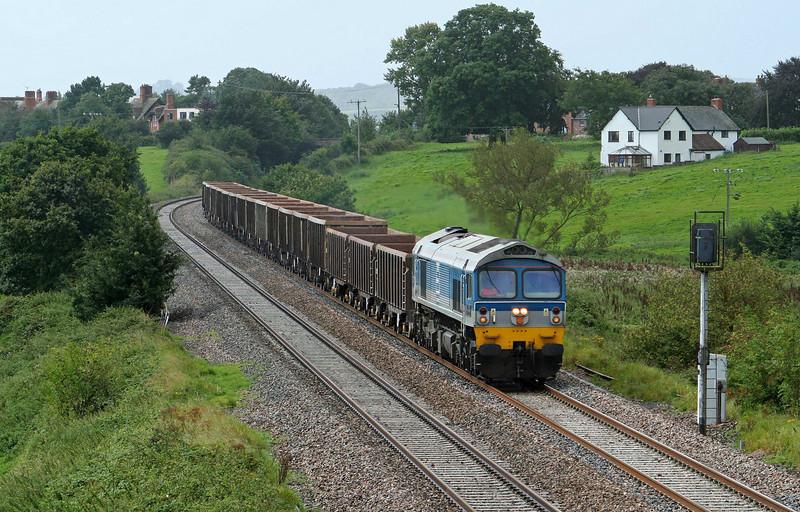 59004, 12.26 Exeter Riverside Yard-Westbury Yard, Rewe, near Exeter, 28-8-09.