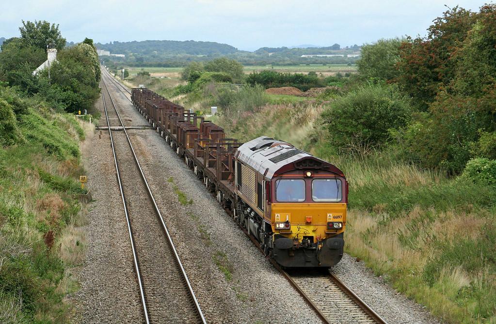 66197, 10.10 Corby-Margam, Woolaston, near Lydney, 24-8-09.