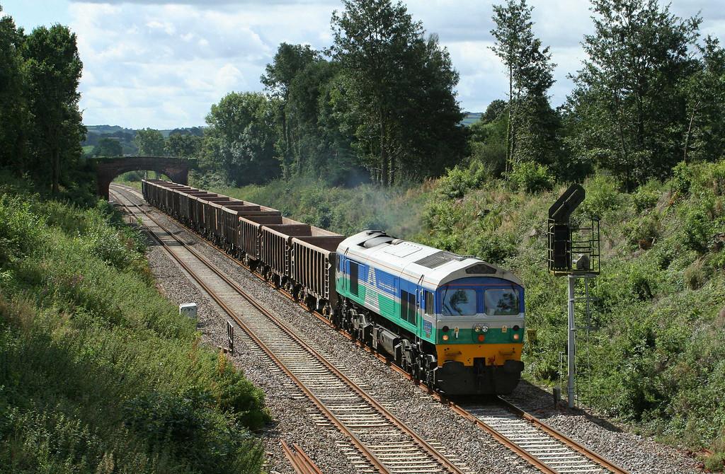 59001, 12.26 Exeter Riverside Yard-Westbury Yard, Willand, near Tiverton, 25-8-09.
