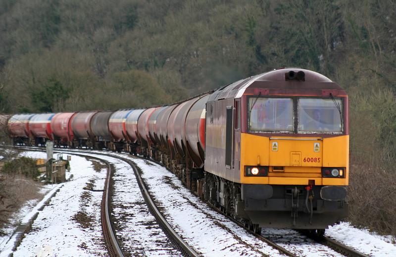 60085, 12.12 Theale-Margam, diverted, Freshford, near Bath, 7-2-09.